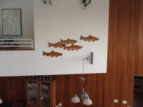 Intarsia Fish Wall Sculptures