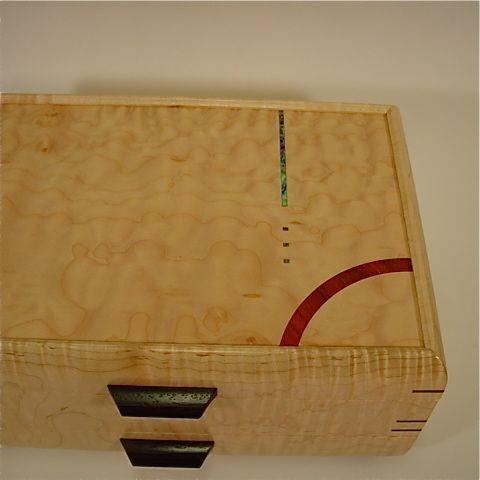 Mikutowski 1 drawer Curly Maple #12-8 - Northwest Fine Woodworking