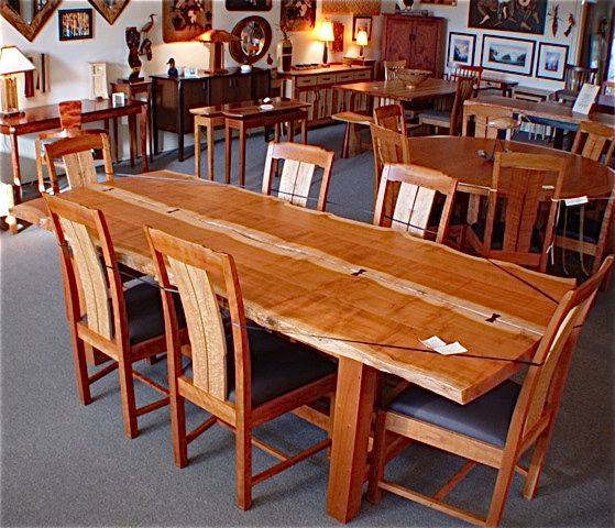 David Gray Live Edge Dining Table Northwest Fine Woodworking