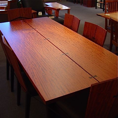 Bubinga And Wenge Dining Table Northwest Fine Woodworking Gifts