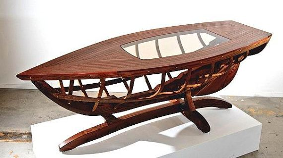 Coffee Table Boat Northwest Fine Woodworking Gifts La Conner Wa 98257